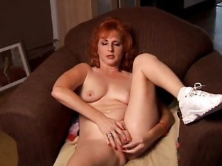 older fresh red-haired squirts