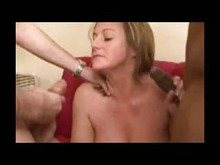 blonde woman getting nailed by a pair of big