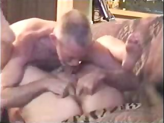 granny grown-up pale is taking licked and