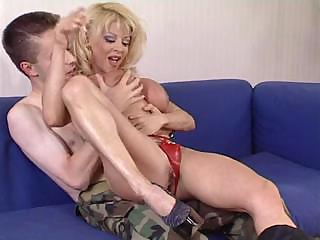older girl donna checks fresh soldier s skills