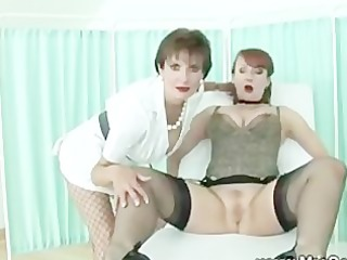 mistriss uses dildo on her slaves figure and kitty