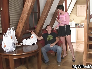 busty mother in law seduces him