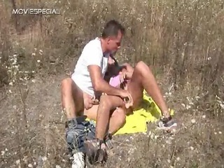 busty cougar babe acquires banged uneasy openair