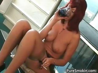 huge chest ebony head whore smoking bondage