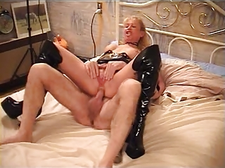 super mature albino banged in boots