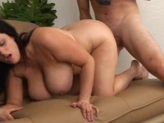 curvy lady with large hot breast drilled