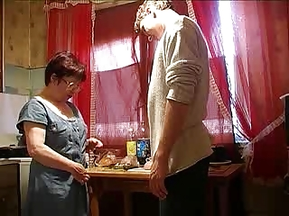 milf and boy into the dining room