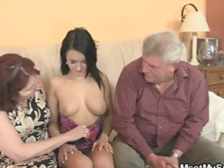 nasty chick banging with her bfs granny parents