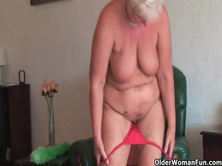 obese granny with saggy giant billibongs and