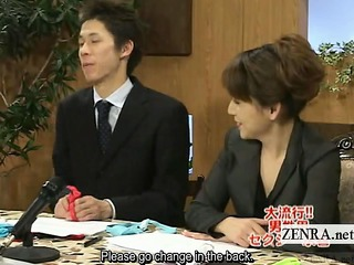 subtitled cfnm japanese news reporters risque