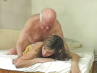 awesome blond bunny shags with old ancient hunk