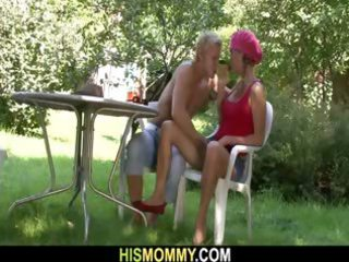 he leaves and his naughty woman masturbating his