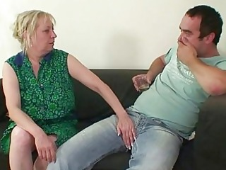 two repairmen bang slutty grandma from both ends