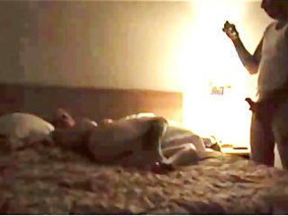 duo of super dads drilling babe inside motel