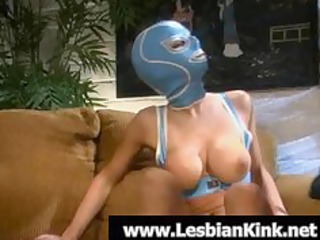 awesome homosexual slut in rubber mask licking a