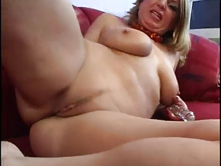 woman bangs her own bottom