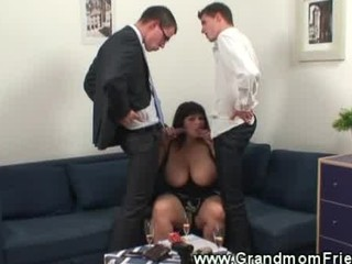 busty studs fondling on fat grown-up