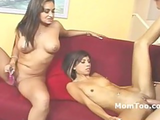 huge breast mother and thin daughter gangbanged