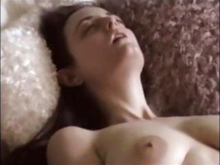 brunette amateur chick masturbates after that