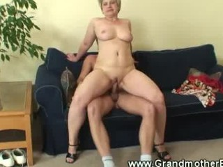 older woman driving young dick