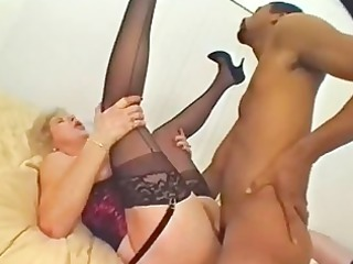 masturbating mature angel has a taste for brown