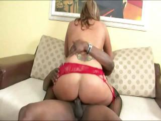 desperate woman with tattoo having interracial sex