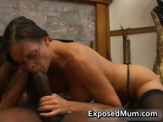 hot lady inside glasses deepthroating brown part1