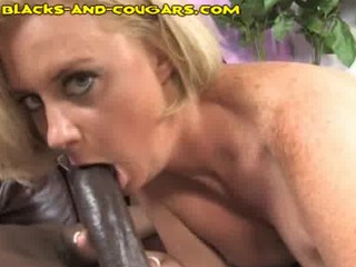 blonde mature babe likes younger black stud