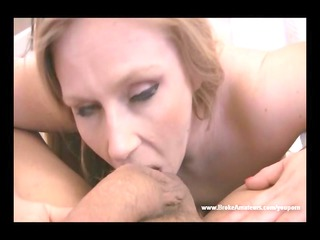 young cougar girl blowjob and cum swallow