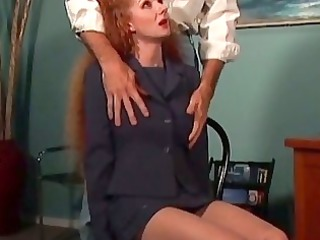redhaired lady abused by the neighbour