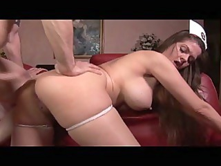 devilish huge tits brunette lady medic treating