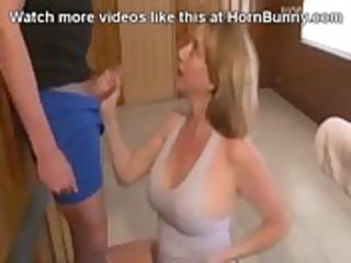 woman blows son hornbunny.com