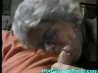 german grandmother catches her guy masturbating