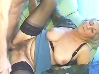 elderly amateur grown-up maiden licks and bangs