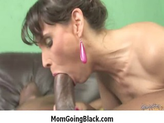 older lady worships big black dick to fun her