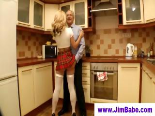 granny boy gang-bangs bleached into little dress