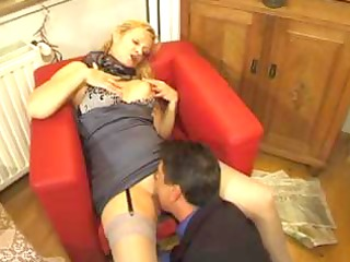 busty grownup albino amp gets her cave licked and