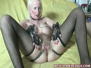 gangbanged granny with chains to her banged fur