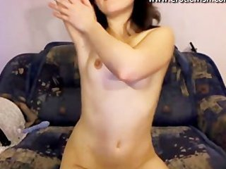 sweet russian young mother spreads kitty