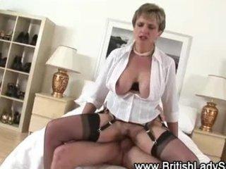check desperate cougar brit get a clean cream