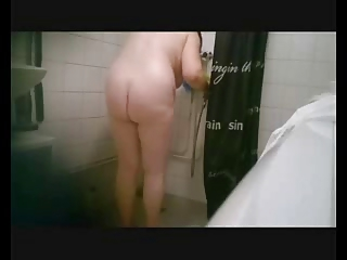 my naughty lady naked inside tub quarters caught