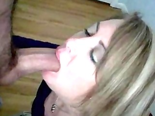 enormously impressive blond mom licking a big