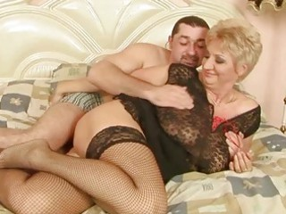grandma enjoys pretty fuck with her boyfriend