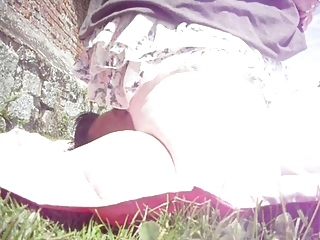 wife sits on my physiognomy into outdoor