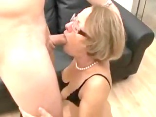 extremely impressive mom fucks her son -