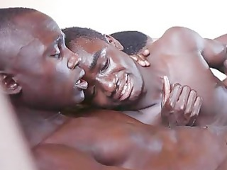 super and sticky bareback african cumshots moment