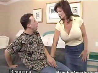 deauxma gets her arse pierced by a young stud