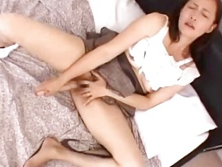 horny mature babe with tied arms giving fellatio