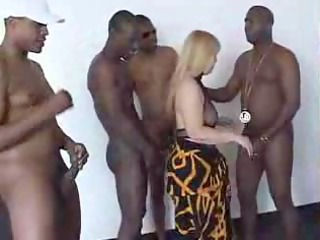 granny sucks and gangbangs ebony dicks