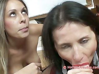 slutty daughter wins cock licking contest over